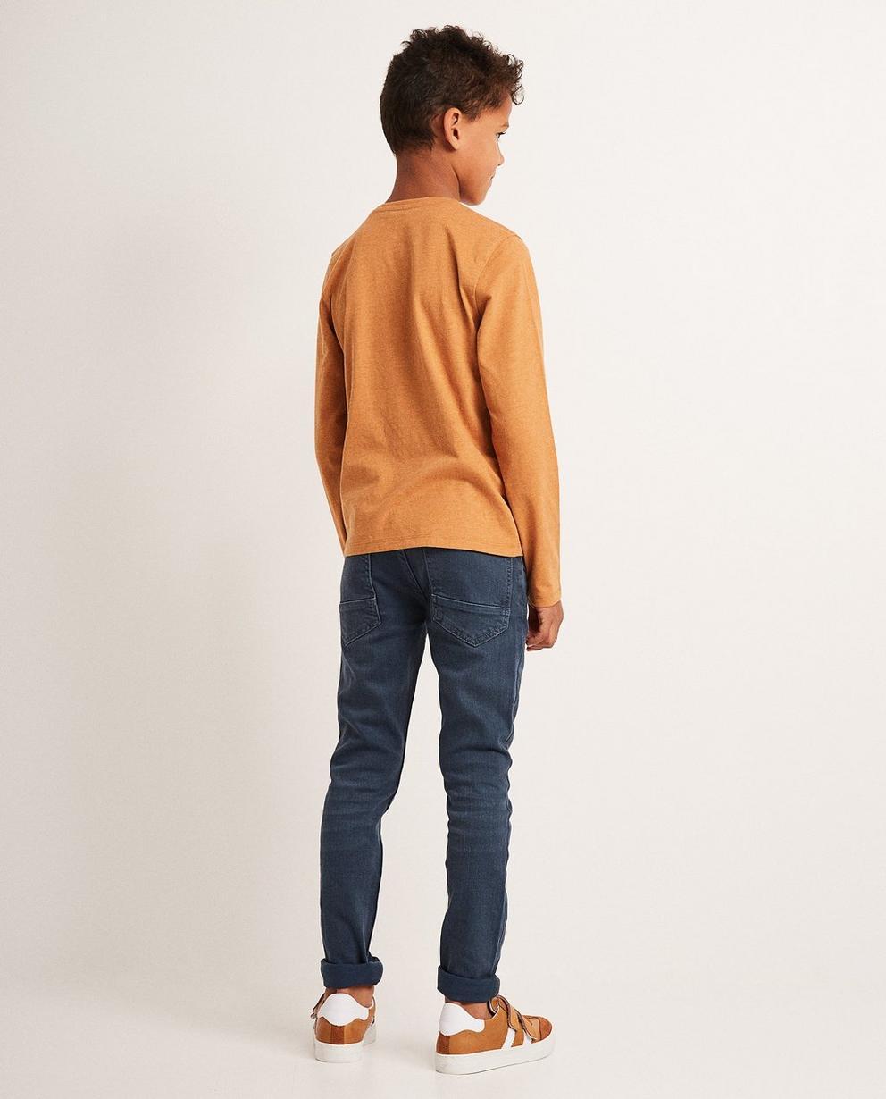 T-Shirts - Sand - Longsleeve mit Aufnähern